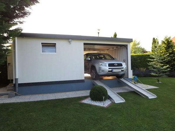 Doppelgarage abmessungen  Massiv-Look Garagen - Unsere Doppelgarage - Kundenfotos 2015