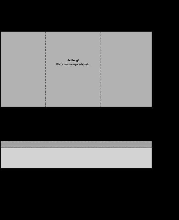 3er-Reihengarage mit Betonplatte