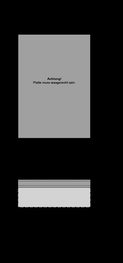 Einzelgarage mit Betonplatte